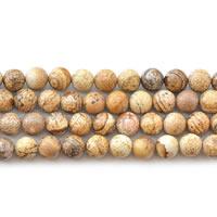 Bild Jaspis Perlen, rund, verschiedene Größen vorhanden, Länge:ca. 15 ZollInch, verkauft von Menge