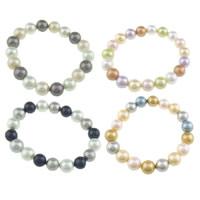 Südsee Muschel Armbänder, Perlen Armband & gemischt, 10mm, Länge:ca. 7 ZollInch, 10SträngeStrang/Tasche, verkauft von Tasche