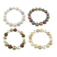 Südsee Muschel Armbänder, Perlen Armband & gemischt, 12mm, Länge:ca. 8 ZollInch, 10SträngeStrang/Tasche, verkauft von Tasche