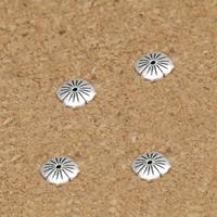 Bali Sterling Silber Perlenkappen, Thailand, Blume, 7mm, Bohrung:ca. 0.8mm, 100PCs/Menge, verkauft von Menge