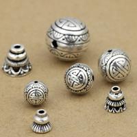 Thailand 3-Loch-Guru-Perlen-Set, buddhistischer Schmuck & verschiedene Größen vorhanden, verkauft von Menge
