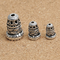 Bali Sterling Silber Perlenkappen, Thailand, Turm, verschiedene Größen vorhanden, verkauft von Menge