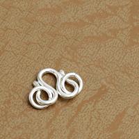 925 Sterling Silber M-Verschluss, 10x10mm, 25PCs/Menge, verkauft von Menge
