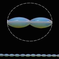 Opal Perlen, oval, 10x20mm, Bohrung:ca. 1mm, 20PCs/Strang, verkauft per ca. 15.7 ZollInch Strang