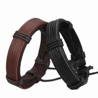 Kuhhaut Armband, mit Gewachsten Baumwollkordel, einstellbar, keine, 13mm, Länge:7.5 ZollInch, 50SträngeStrang/Menge, verkauft von Menge