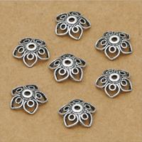 Bali Sterling Silber Perlenkappen, Thailand, Blume, 10mm, 40PCs/Menge, verkauft von Menge