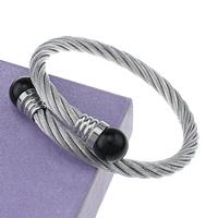Edelstahl Armreif, mit Kunststoff Perlen, originale Farbe, 12mm, 6mm, Innendurchmesser:ca. 58x58mm, Länge:ca. 7 ZollInch, verkauft von PC