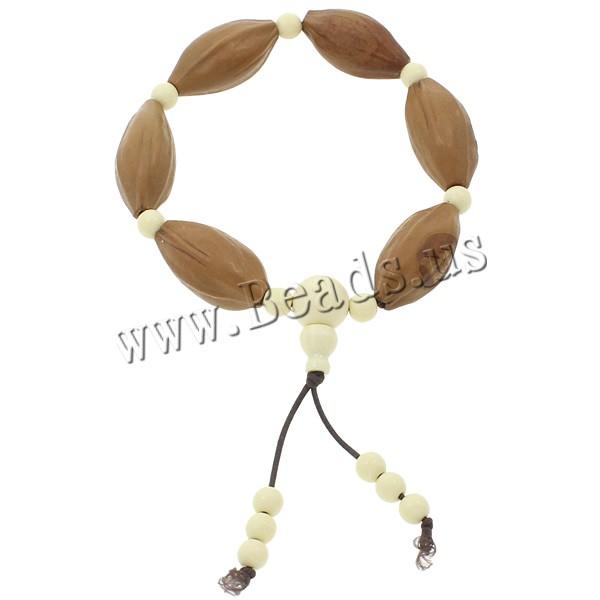 Buy Wrist Mala Olivary Nucleus Ox Bone & nylon elastic cord Horse Eye Buddhist jewelry white 15x30mm Length:Approx 7.5 Inch 8Strands/Bag 6PCs/Strand Sold Bag