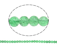 Knistern Glasperlen, Glas, rund, grün, 10mm, Bohrung:ca. 2mm, Länge:ca. 31 ZollInch, 10SträngeStrang/Tasche, verkauft von Tasche