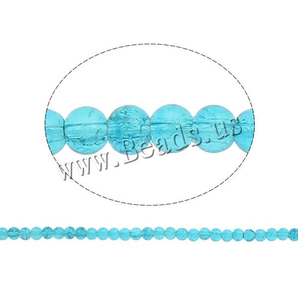 Crackle Glass Beads Round blue 6mm Hole:Approx 1.5mm Length:31 Inch 10Strands/Bag Sold Bag