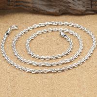 Thailand Kette Halskette, verschiedene Größen vorhanden & Oval-Kette, 3mm, verkauft von Strang