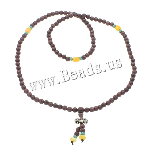 Buy 108 Mala Beads Red Sandalwood Willow nylon elastic cord & turquoise & Yellow Agate & Zinc Alloy Round Buddhist jewelry purple 7x9mm 7mm 17x8mm Length:Approx 26.5 Inch 10Strands/Bag 108PCs/Strand Sold Bag