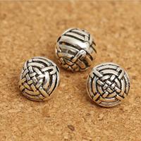 Bali Sterling Silber Perlen, Thailand, rund, 10mm, Bohrung:ca. 1mm, 15PCs/Menge, verkauft von Menge