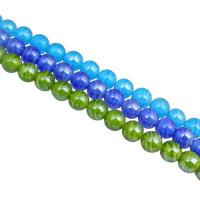 Innerer Twist Lampwork Perlen, rund, handgemacht, innen Twist, keine, 14mm, Bohrung:ca. 2.5mm, 25PCs/Strang, verkauft per ca. 14.5 ZollInch Strang