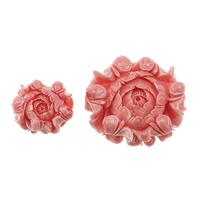 VHM Riesen Anhänger, Riesenmuschel, Blume, geschnitzt, verschiedene Größen vorhanden, Rosa, Bohrung:ca. 1.5mm, verkauft von Menge