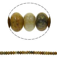 Natürliche verrückte Achat Perlen, Verrückter Achat, Rondell, 10x6mm, Bohrung:ca. 1.5mm, ca. 64PCs/Strang, verkauft per ca. 15.7 ZollInch Strang