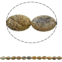 Bild Jaspis Perlen, flachoval, natürlich, 13x18x5mm, Bohrung:ca. 1.5mm, ca. 22PCs/Strang, verkauft per ca. 15.3 ZollInch Strang
