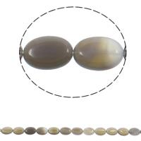 Natürliche graue Achat Perlen, Grauer Achat, flachoval, 13x18x5mm, Bohrung:ca. 1.5mm, ca. 22PCs/Strang, verkauft per ca. 15.3 ZollInch Strang