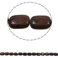 Mahagoni Obsidian Perlen, mahagonibrauner Obsidian, Rechteck, natürlich, 13x18x6mm, Bohrung:ca. 1.5mm, ca. 22PCs/Strang, verkauft per ca. 15.7 ZollInch Strang