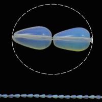 Opal Perlen, Tropfen, 8x13mm, Bohrung:ca. 1.5mm, ca. 33PCs/Strang, verkauft per ca. 16.5 ZollInch Strang