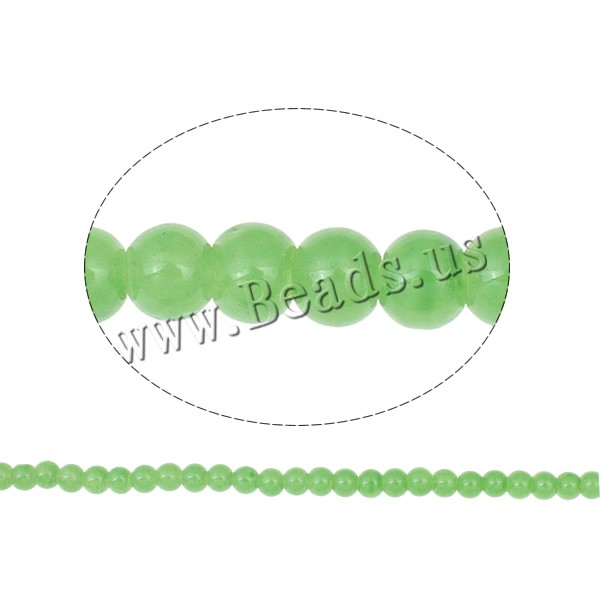 Buy Fashion Glass Beads Round light green 6mm Hole:Approx 1mm Length:Approx 31.4 Inch 10Strands/Bag Approx 148PCs/Strand Sold Bag