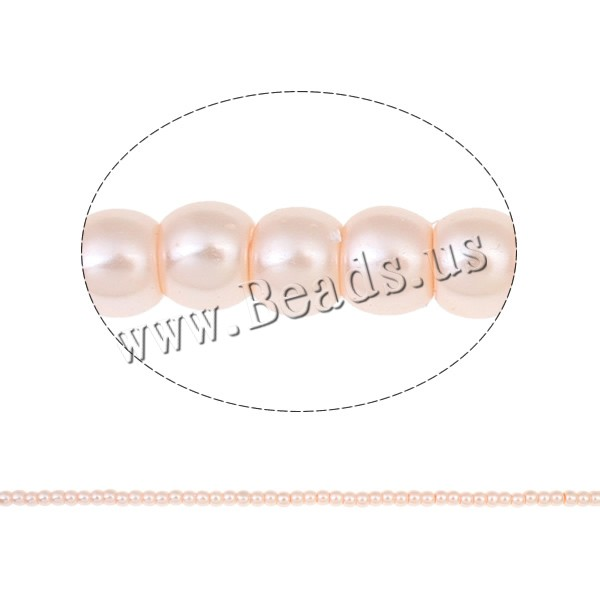 Buy Glass Pearl Beads Round 4mm Hole:Approx 1mm Length:Approx 31.4 Inch 10Strands/Bag Approx 149PCs/Strand Sold Bag