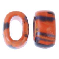 Porzellan Schmuckperlen, Rechteck, glaciert, rot, 12x18x10mm, Bohrung:ca. 6x11mm, 20PCs/Tasche, verkauft von Tasche