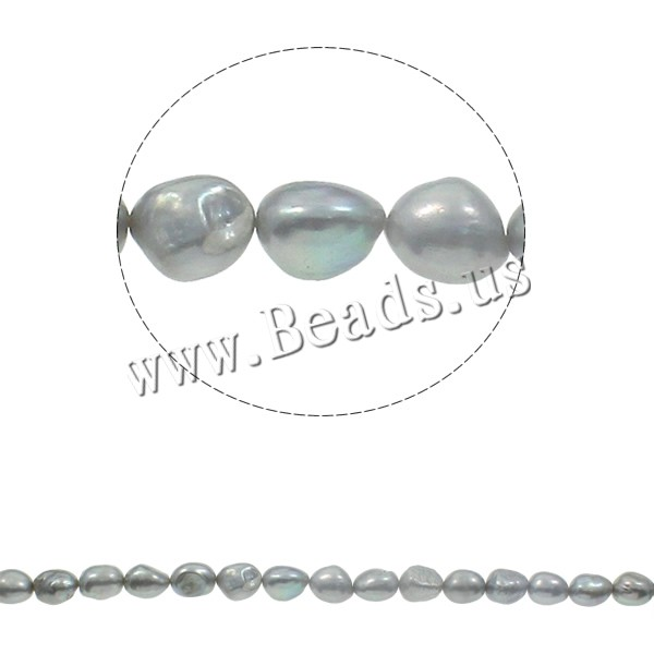 Buy Cultured Baroque Freshwater Pearl Beads grey Grade AA 10-11mm Hole:Approx 0.8mm Length:Approx 15.3 Inch Approx 20Strands/KG Sold KG