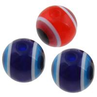 Harz Evil Eye Perlen, rund, verschiedene Größen vorhanden, keine, Bohrung:ca. 1-2mm, 2Taschen/Menge, 1000PCs/Tasche, verkauft von Menge
