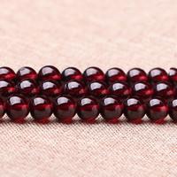 Natürlicher Granat Perlen, rund, Januar Birthstone & verschiedene Größen vorhanden, Grad AAA, Länge:ca. 15 ZollInch, verkauft von Menge
