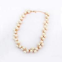Plastik-Perlenkette, Kunststoff Perlen, mit Zinklegierung, mit Verlängerungskettchen von 1.5Inch, goldfarben plattiert, mit Strass, frei von Nickel, Blei & Kadmium, 20mm, verkauft per ca. 15.7 ZollInch Strang