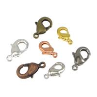Messing Karabinerverschluss, plattiert, verschiedene Größen vorhanden, keine, 100PCs/Tasche, verkauft von Tasche