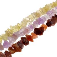 Natürliche gefärbten Quarz Perlen, Natürlicher Quarz, keine, 14x10x12mm-18x15x10mm, Bohrung:ca. 1mm, ca. 45PCs/Strang, verkauft per ca. 15.7 ZollInch Strang