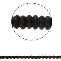 Mahagoni Obsidian Perlen, mahagonibrauner Obsidian, flache Runde, natürlich, 6.5x3mm, Bohrung:ca. 1.5mm, ca. 134PCs/Strang, verkauft per ca. 15.7 ZollInch Strang
