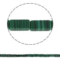 Malachit Perle, Rechteck, synthetisch, 6x12x4mm, Bohrung:ca. 1.5mm, ca. 33PCs/Strang, verkauft per ca. 15.7 ZollInch Strang