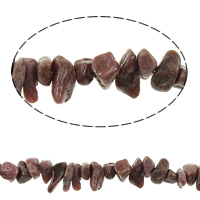 Rhodonit Perlen, Klumpen, natürlich, 2-7x5-11mm, Bohrung:ca. 1mm, verkauft per ca. 35 ZollInch Strang