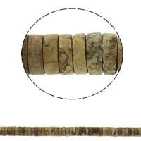 Bild Jaspis Perlen, Scheibe, natürlich, 15x5mm, Bohrung:ca. 1.5mm, ca. 77PCs/Strang, verkauft per ca. 15.7 ZollInch Strang