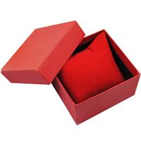Uhr Schmuckkasten, Karton, mit Schwamm & Baumwollsamt, Rechteck, keine, 85x80x55mm, 100PCs/Menge, verkauft von Menge