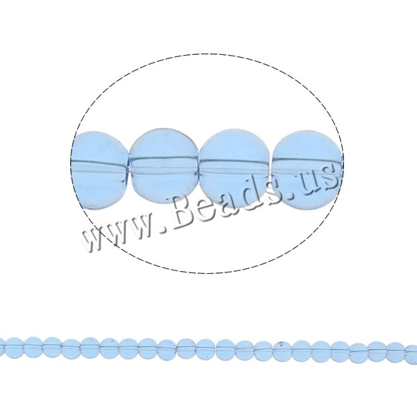 Buy Round Crystal Beads Lt Sapphire 6mm Hole:Approx 1.5mm Length:11.8 Inch 10Strands/Bag Sold Bag