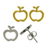 Edelstahl Ohrringe, Apfel, plattiert, keine, 9.50x10x11.50mm, verkauft von Paar