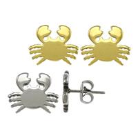 Edelstahl Ohrringe, Krabbe, plattiert, keine, 11.50x9.50x11mm, verkauft von Paar