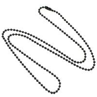 Edelstahl Nekclace Kette, schwärzen, Kugelkette, 2.50mm, verkauft per ca. 23.5 ZollInch Strang