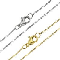 Halskette, Edelstahl, plattiert, unterschiedliche Länge der Wahl & Oval-Kette, keine, 1.50x2x0.10mm, 10SträngeStrang/Menge, verkauft von Menge