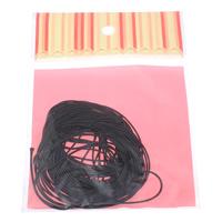 Wachsschnur, Gewachste Hanfschnur, mit OPP, schwarz, 1mm, 10WerftenHof/Tasche, verkauft von Tasche