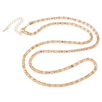 Eiserne Halskette Kette, Eisen, mit Verlängerungskettchen von 7cm, KC goldfarben plattiert, Laterne Kette, frei von Nickel, Blei & Kadmium, 4mm, verkauft per ca. 29 ZollInch Strang