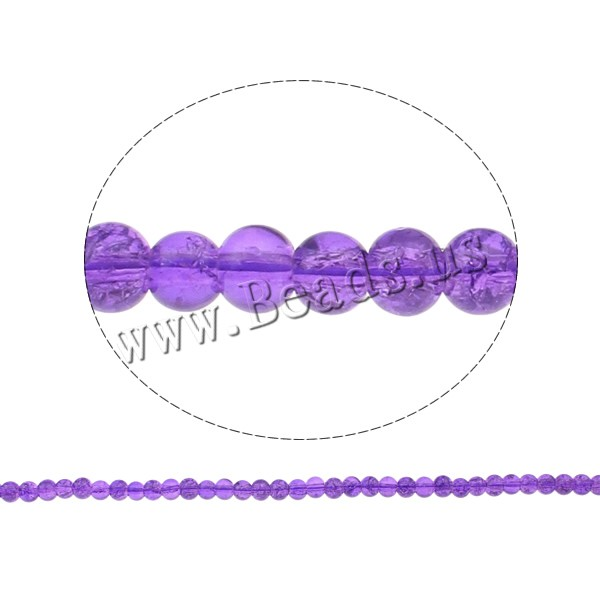 Buy Crackle Glass Beads Round purple 4mm Hole:Approx 1mm Length:Approx 31.4 Inch 10Strands/Bag Sold Bag