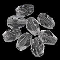 Transparente Acryl-Perlen, Acryl, Trommel, facettierte, 5x7mm, Bohrung:ca. 1mm, 2Taschen/Menge, ca. 6250PCs/Tasche, verkauft von Menge