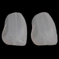 Gelee-Stil-Acryl-Perlen, Acryl, Klumpen, Gellee Stil, weiß, 12x15x10mm, Bohrung:ca. 1mm, 2Taschen/Menge, ca. 625PCs/Tasche, verkauft von Menge