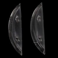 Transparente Acryl-Perlen, Acryl, Mond, Doppelloch, 12x48x7mm, Bohrung:ca. 2mm, 2Taschen/Menge, ca. 185PCs/Tasche, verkauft von Menge
