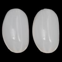 Gelee-Stil-Acryl-Perlen, Acryl, oval, Gellee Stil, weiß, 11x18x10mm, Bohrung:ca. 1mm, 2Taschen/Menge, ca. 415PCs/Tasche, verkauft von Menge
